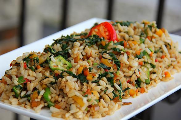 jamaican callaloo fried rice  (8)