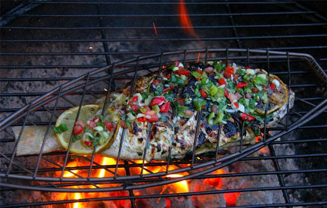 Caribbean herb grilled fish for The fish grill