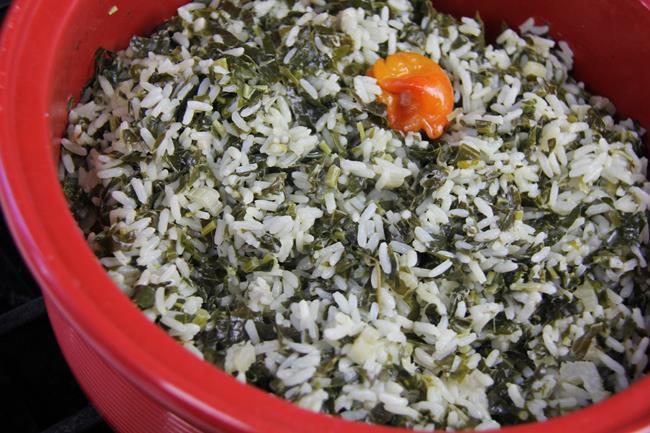vegetarian spinach rice (9)