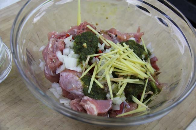 stew chicken with string beans (1)