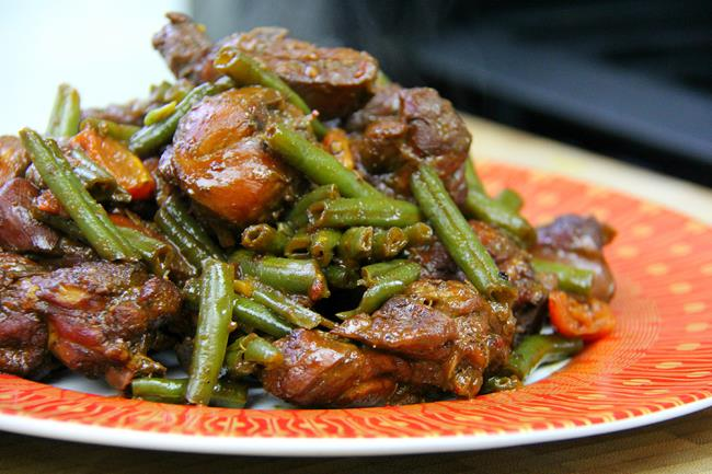 stew chicken with string beans (11)