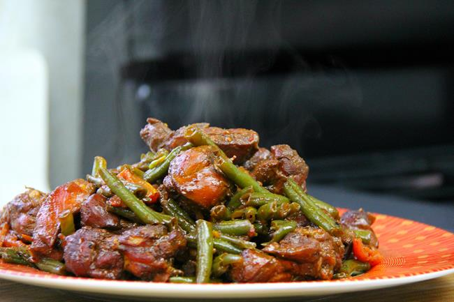 stew chicken with string beans (12)