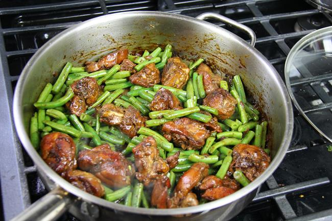stew chicken with string beans (7)