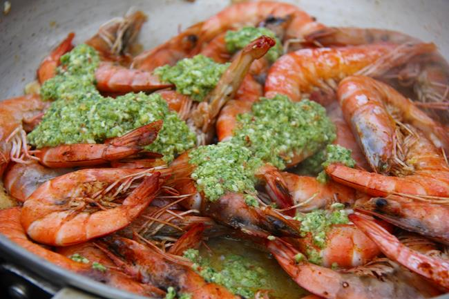 scotch bonnet pesto shrimp (6)