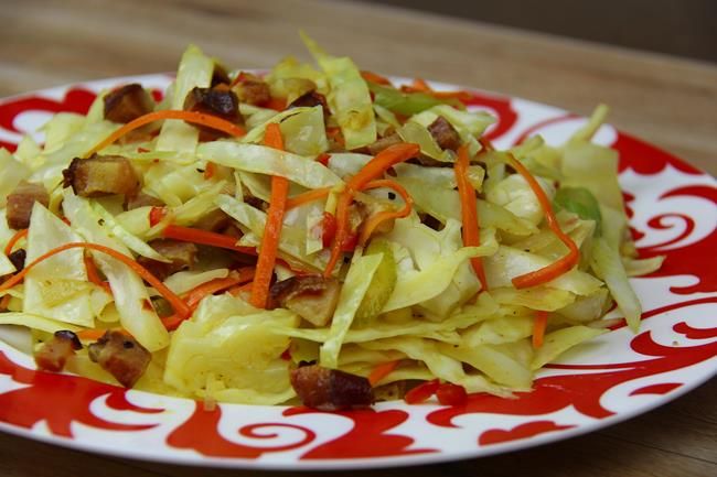 cabbage with ham (9)
