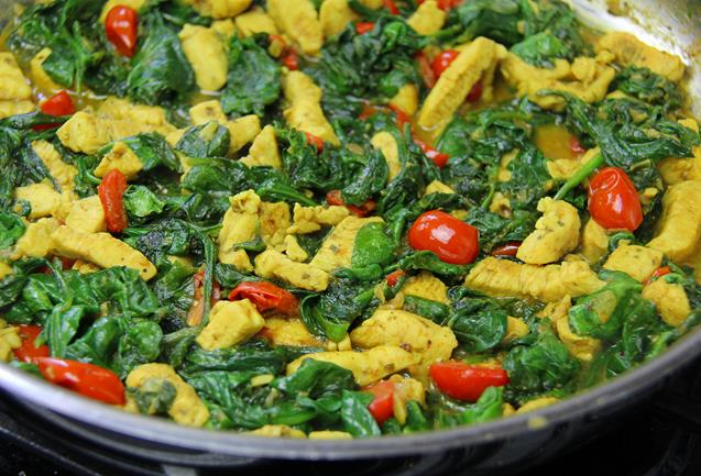 curry chicken with spinach (10)