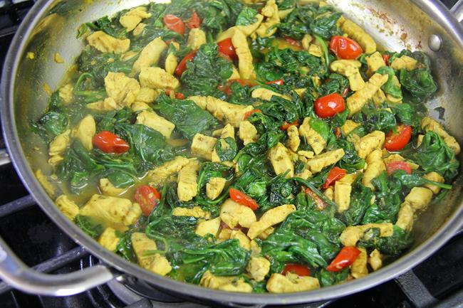 curry chicken with spinach (9)
