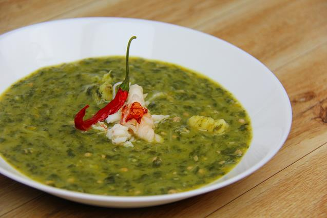 lobster callaloo soup (10)