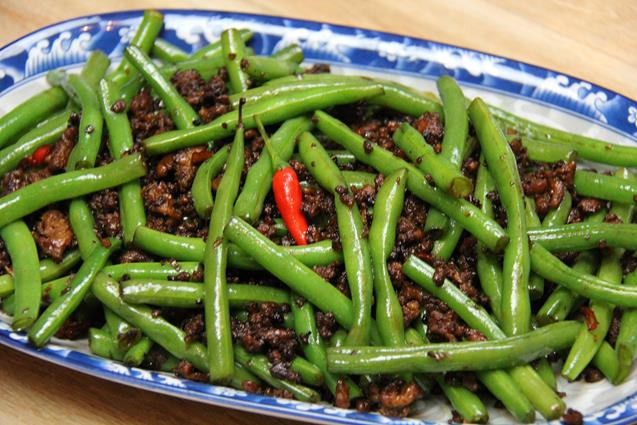 stirfry beans with chicken (12)