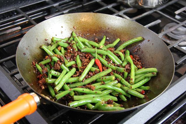 stirfry beans with chicken (9)