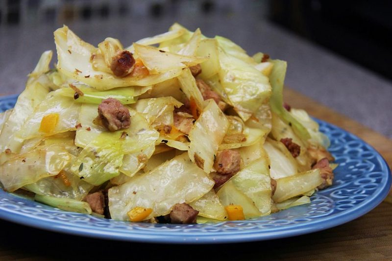 Great Grandma's Salted Pork With Cabbage.